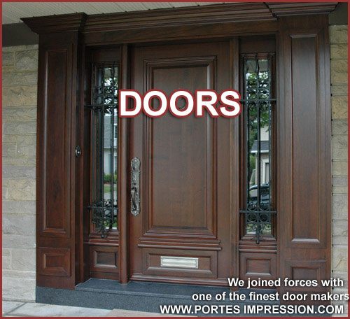 We joined forces with one of the finest door maker www.portesimpression.com